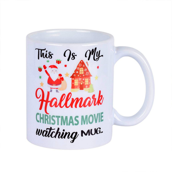 Christmas Coffee Mugs.White Mugs With Printing Words This Is My Hallmark Christmas Movie Watching Mug Coffee Mugs For Christmas Gift Brithday Gift Daily Use Porcelain Mugs