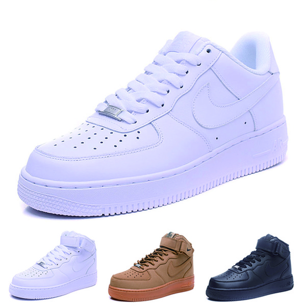 nike air force 1 one dunk Con box One 1 Dunk Zapatillas de running para hombre mujer Negro Blanco Rosa Zapatillas de deporte para hombre Ones High Low Cut Wheat Brown Sports
