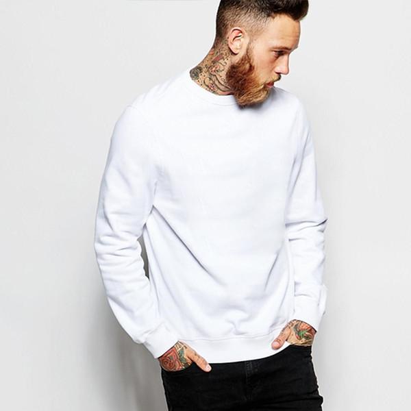 good quality 2019 New Men's Fleece Sweatshirt Backing Blank Couple No Hoodies Sweatshirts Hoody men clothes
