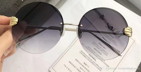 Luxus icy brown sonnenbrille für frauen spezielle uv schutz frauen design vintage rechteck runde rahmenlose top qualität kommen mit paket