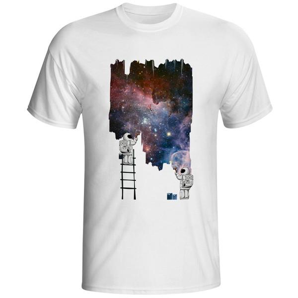 Disegna la mia t-shirt dell'universo Cosmos Astronauta T-shirt cool anime punk Stampa Hip Hop Tee unisex casual