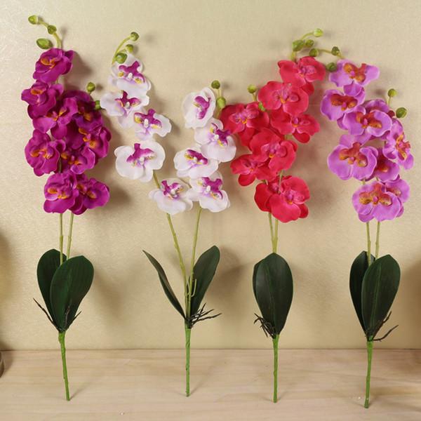 İpek Yapay Kelebek Orkide Çiçek Orkide Orkide Gerçek Dokunmatik Yapay Çiçek Düğün Çiçek Parti