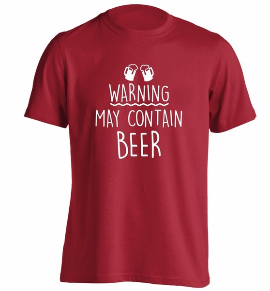 Warning may contain beer t-shirt CAMERA bitter pint glass hand pulled joke 1993Funny free shipping Unisex Casual Tshirt top