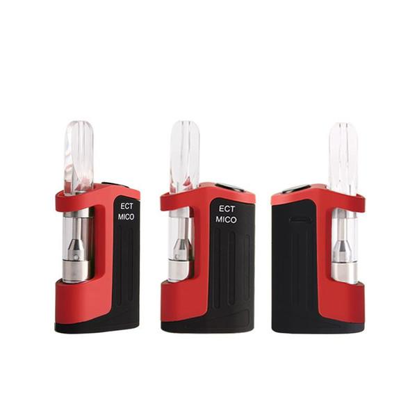 100% оригинал ECT Mico Kit 350 мАч Разогрев VV Аккумулятор поставляется с картриджами CTC B1 0,5 мл Керамическая катушка Толстые масляные картриджи M6T