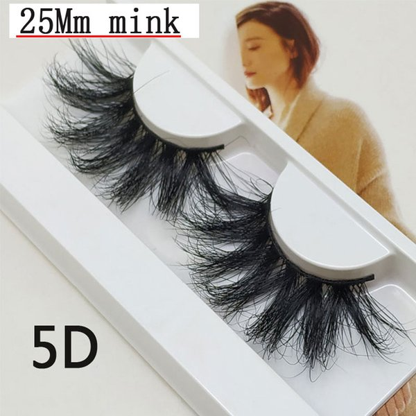 5 D mink false eyelashes 25mm 02 mink hair material soft comfortable extended wear effect more fashionable variety of styles optional source
