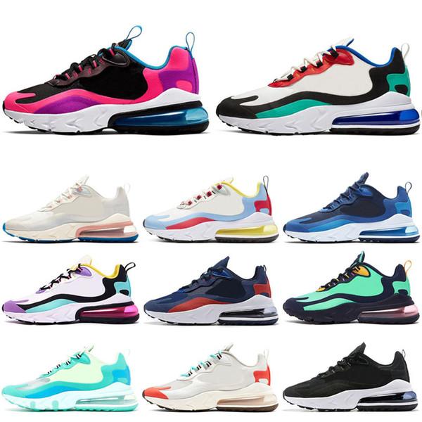 Nike air max 270 react 2019 Atmos Koşu Ayakkabı Getirdi OREO Koşucu Primeknit OG Japonya Üçlü Siyah Beyaz Erkek Kadın Bej Koşucu Spor Sneakers 36-45
