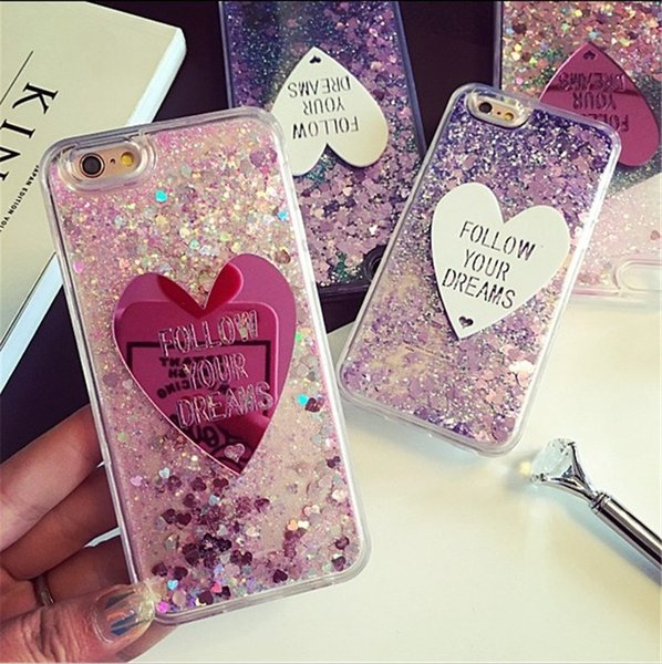 Quicksand love iphone7 mobile phone shell Apple 6plus all-inclusive soft rubber 5.5 inch protective cover 4.7 shell Korean