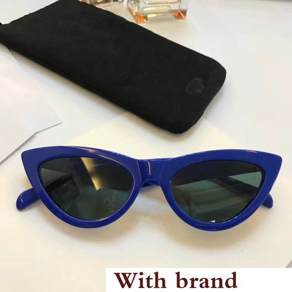 40019 Sunglasses For Women Popular Fashion Goggle UV protection Cat Eye Frame Top Quality Come With Package