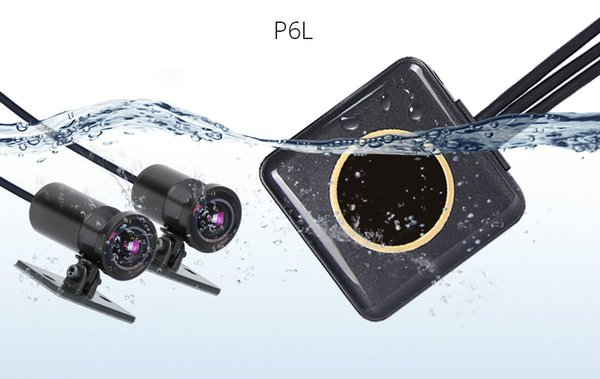 Portable Full HD 1080P+720P Front Rear View Waterproof Motorcycle Camera WiFi Motorcycle DVR Dash Cam Black Recorder Box car dvr