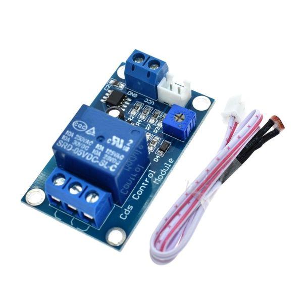 LIZAO 5 V 12 V Interruttore di Controllo della Luce Fotoresistenza Modulo Relè Sensore di Rilevamento 10A luminosità Modulo di Controllo Automatico XH-M131