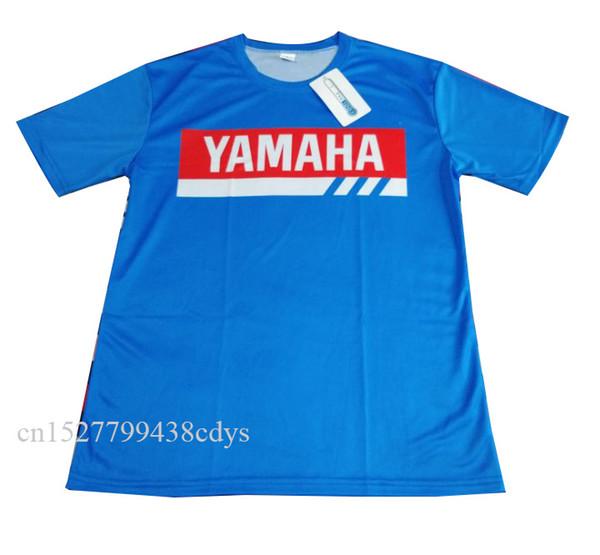 Color azul Cross country Motocross Jersey Downhil Mountain Bike DH Camisa MX Ropa de motocicleta Ropa AJUSTAR Para yamaha camiseta