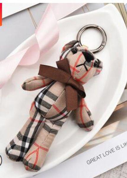 2019 Cloth Vintage Keychain Key Rings Fashion Pendant Teddy Bear Women Key Chain Cute Cartoon Car Bag Keychain