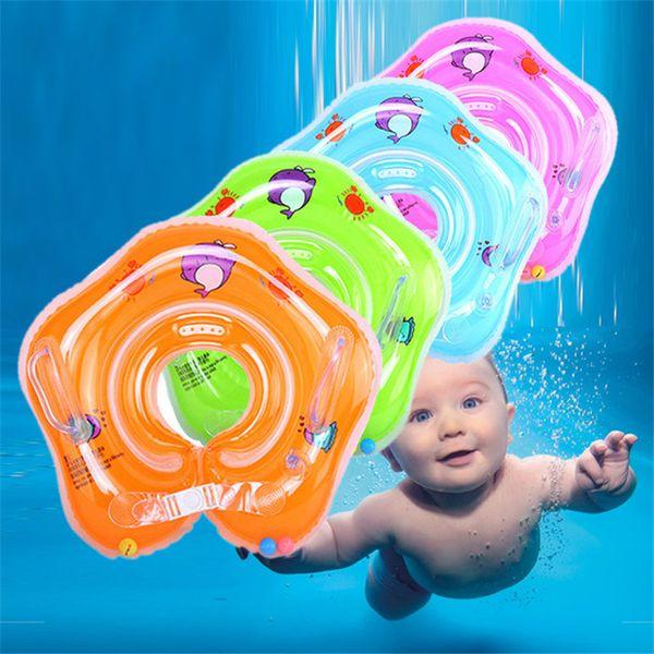 Natación Accesorios para piscinas para bebés Anillo inflable para bebés Cuello de bebé Ruedas inflables para recién nacidos Baño de seguridad Cuello flotador de cuello DLH058