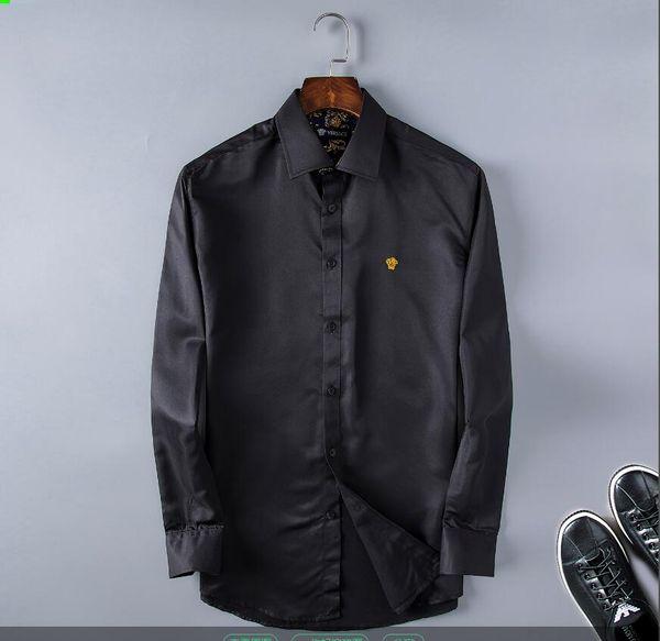 2020 más reciente de la moda la onda de los camisa de tela escocesa de impresión en color de mezcla de lujo Harajuku camisas ocasionales de la manga corta de los hombres de la medusa camisas SQ2021