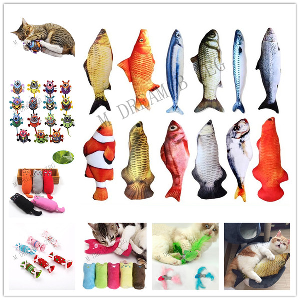 interactive fancy cat toy cute pet cats teeth catnip toys cat pillow plush sleeping cushion pets supplies gadget ing