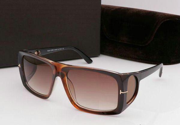 Nueva gran calidad de dicha cantidad superior 709 de la nueva manera de Tom gafas de sol para mujer del hombre Erika Gafas de diseño de Ford Marca de los vidrios de sol con la caja 0730