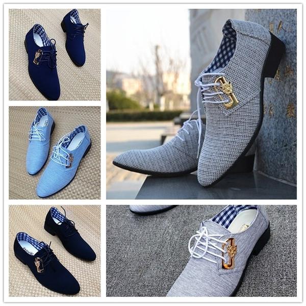 Sycatree 2019 Tuval erkek Elbise Ayakkabı Moda Leopar Ofis Ayakkabı erkek Sivri Deri Kış Erkek Iş