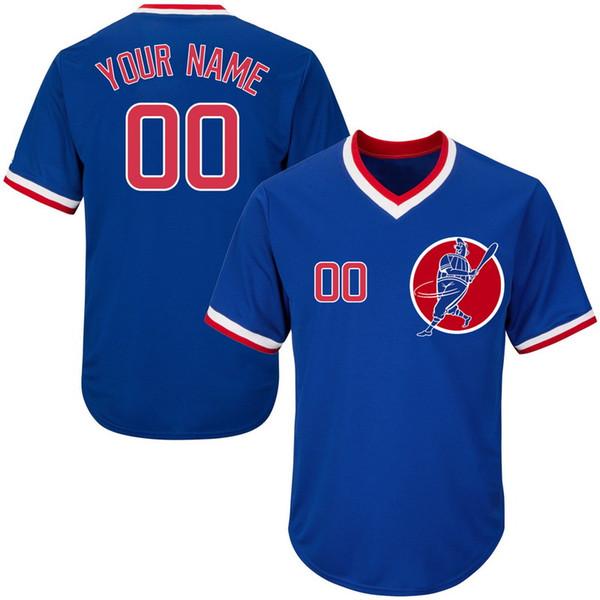 Custom Mens Baseball Jerseys N'importe quel nom N'importe quel numéro Cousu Broderie Chemises Personnalisées Personnalisé Pas Cher En Ligne Magasin B015