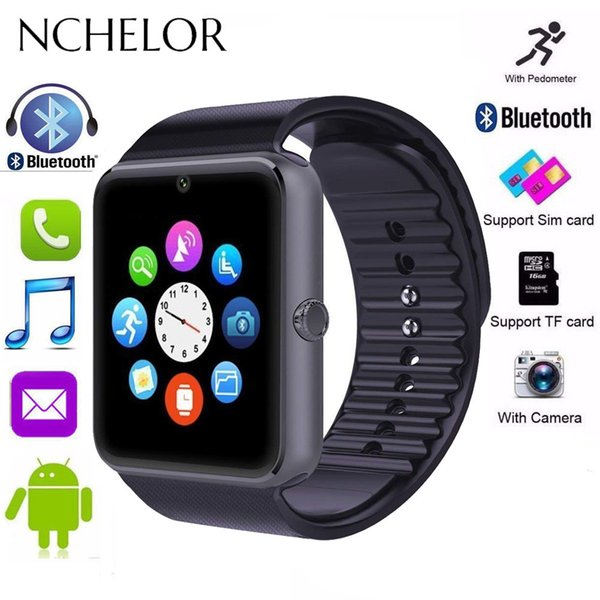 New Bluetooth Smart Watch Men Gt08 With Touch Screen Sport Watch Support Tf Sim Card Camera Call For Iphone Ios Android Phone Y19051603