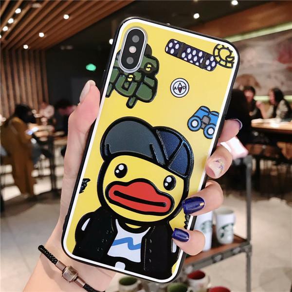 Para a apple telefone móvel iphone x 8/7/6 além de xs xs xs max rato dos desenhos animados pato bonito interessante menina anime anime requintado tendência protetora case