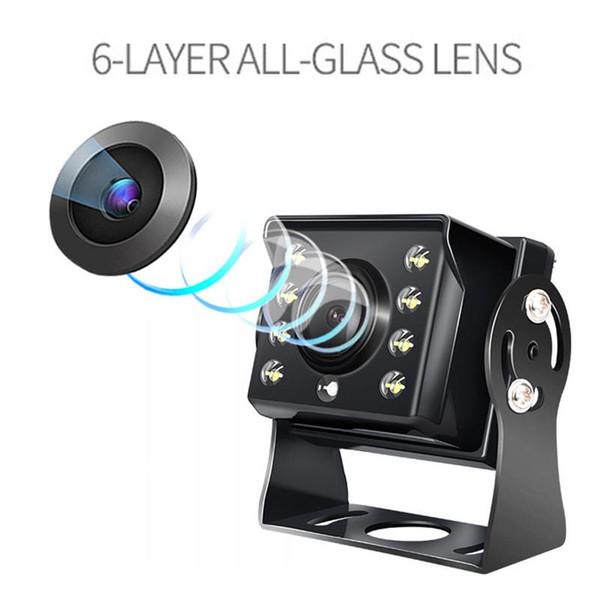 Auto-Rückfahrkamera-Universalersatzparkkamera 8 LED-Nachtsicht-wasserdichter Schlag für Auto DVR-Spiegel-Recorder