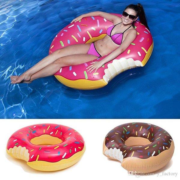 Donut Float Gigantic ciambella galleggiante piscina gonfiabile in vinile divertente estate piscina o in spiaggia giocattolo 48 pollici