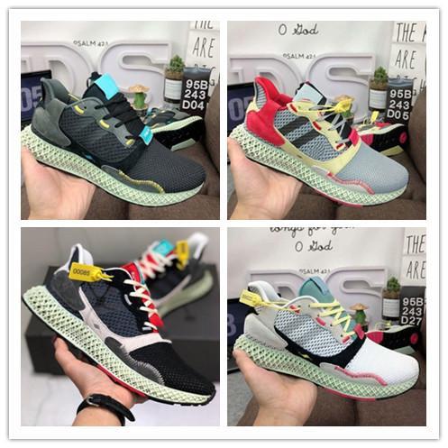 top popular 2019 New Consortium ZX 4000 FutureCraft 4D Running Shoes for Men Mens BD7931 zx4000 Designer Trainer Sports Sneakers Chaussures Zapatillas 2019