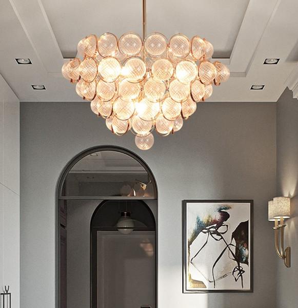 Luxtury Lustre En Verre Lampadaire Moderne Doré Couleur E14 Ampoule Lumière Boule De Verre Art Artistique Créatif Luminaire