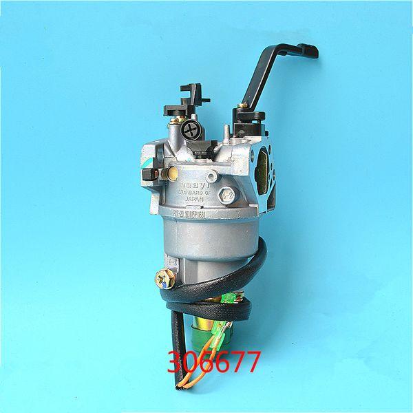 Carburetor w/ solenoid manual choke for Honda GX390 188F 5 KW genset carb 6.5kw generator carburettor replacement