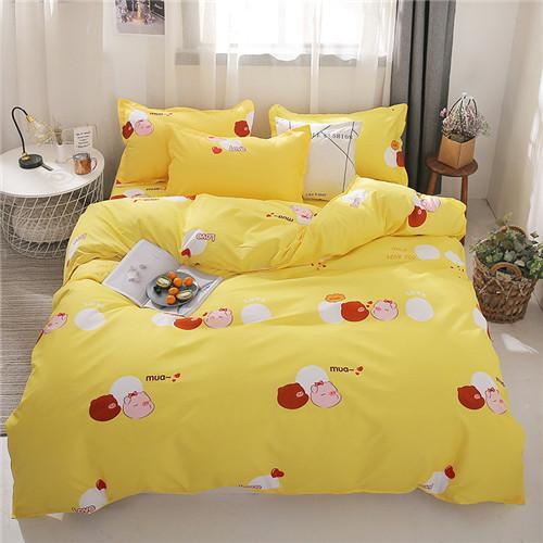 Home Textile Heart Bedding Set 3/4pcs Quilt Cover Queen Full King Size Children Cartoon Duvet Cover Bedclothes