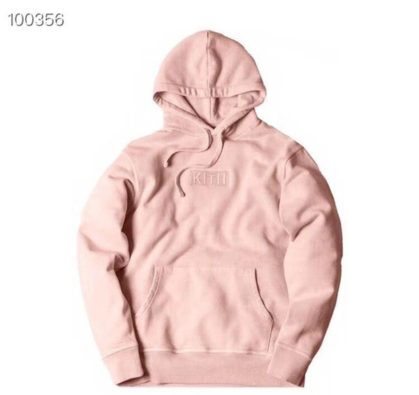 BOX LOGO Embroidery KITH HOODIE Men WomenBest Quality KITH Tom Casual Pullover Sweatshirts
