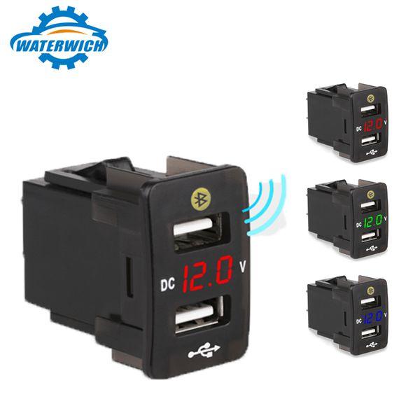 4.2a Dual USB Caricabatteria da Auto con Voltmetro Voltmetro Parcheggio Posizione Caricatore Auto Presa Caricatore Auto Cellulare Per Honda T190627