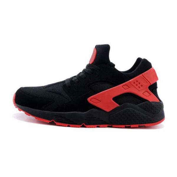 Atacado Huarache 4 1 Tênis Para Mulheres Dos Homens Branco Preto Vermelho Sneakers Triplos Formadores homens Esporte sapatos de grife sneaker