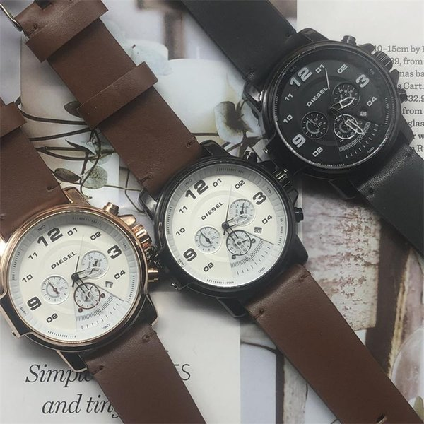 boss watch luxury mens watches quartz leather fashion wristwatch 40mm top boss brand watches for mens all pointers work