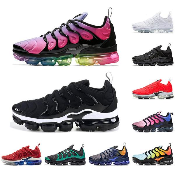 Nike Vapormax plus tn con CalziniVapormaxInoltre TN scarpe per le donne gli uomini Betrue Triple Nero gioco Reali traspirante Mens allenatore sportivo scarpe da tennis correnti