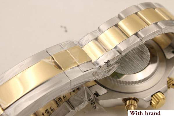 luxury automatic mechanical watch series 116523 ivory white diamond gold bezel gold and silver watch strap wristwatch