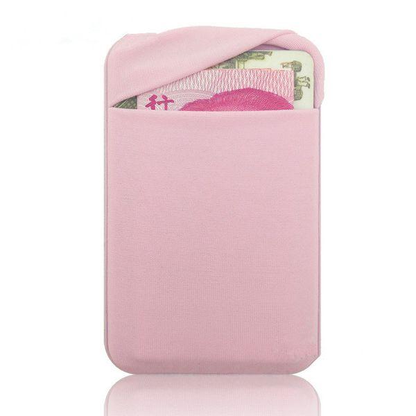 Эластичная ткань бумажник кредит ID карты держатель наличных 3 м гаджет карман сумка Stick-On телефон карманные наклейки мобильный телефон