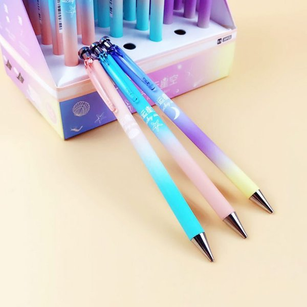 1Pcs Lucky Moon Star Plastic Mechanical Pencil Creative Sky Automatic Pens For Kids Writing School Supplies Student Stationery