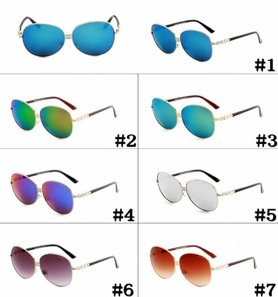 Nueva moda Súper hermoso marco grande gafas de sol Gafas de sol Goggle Sin marco jalea unida transparente color caramelo gafas de sol