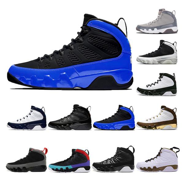 2019 airjordanBlack Men basketball shoes 9s UNC LA Bred Space Jam Tour Yellow Anthracite sports trainers Sneaker size 7-13