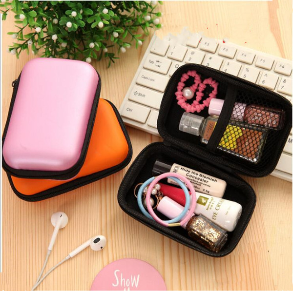 top popular Data Cable Zipper Bags Digital Storage Bag Mobile Phone Charger Organizer Earphone Package Case Sundries Travel Storage Bag 5 Color LXL235-A 2021