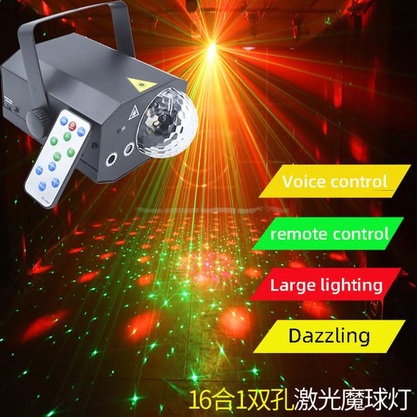 Neue Bühne Licht Fernbedienung LED Mini Radium schießt die Familie Bar KTV Licht Laser Magic Ball Lampe