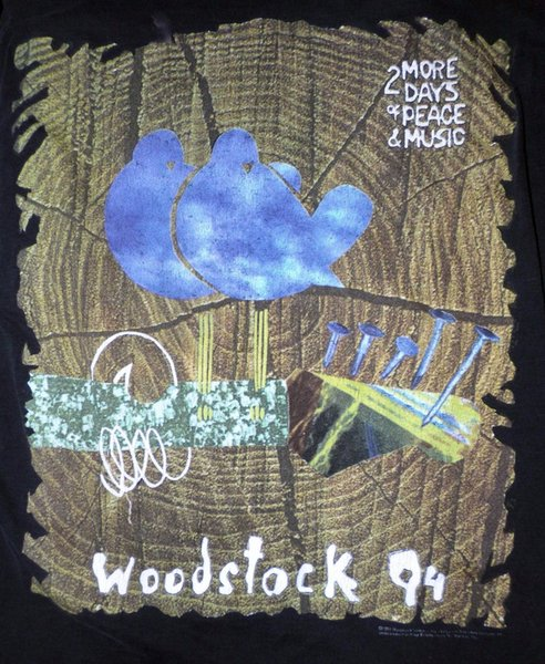 1994 WOODSTOCK vtg concert shirt (XL) Blind Melon, Nine Inch Nails, Bob Dylan Men Women Unisex Fashion tshirt Free Shipping black