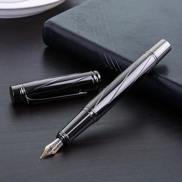 0,5 milímetros Nib Luxo Fontes de Prata Caneta-tinteiro de alta qualidade Standard Tipo caneta de tinta escrita escritório material escolar