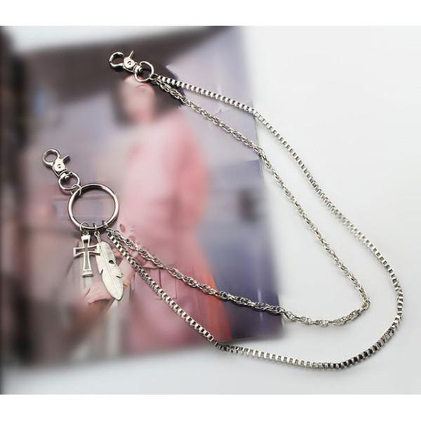 Styles Street Style Damen Herren Fashion Big Ring Schlüsselanhänger Metall Geldbörse Gürtel Kette Long Punk Pant Jean Keychain HipHop Jewelry