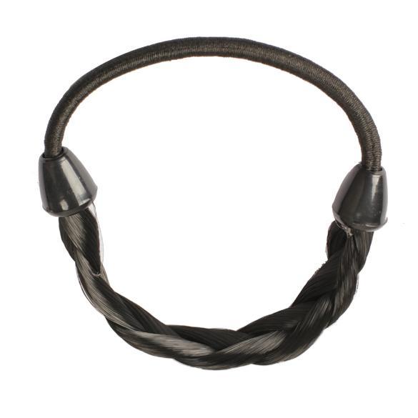 Peluca Trenzas Elástico Trenza Cuerda Ponytail Hair Hairpiece Band Holder Negro 88 8 LXX9