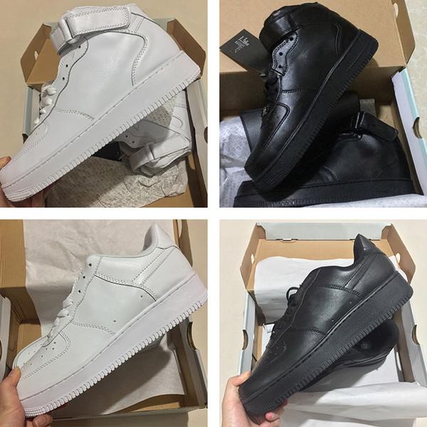 Nike air max force fly Nouvelle Arrivée Un 1 Dunk Chaussures De Course Tout Noir Blanc Hommes Femmes Sport Skateboard Ones Haute Basse Coupe Blé Brun Baskets Baskets 36-45