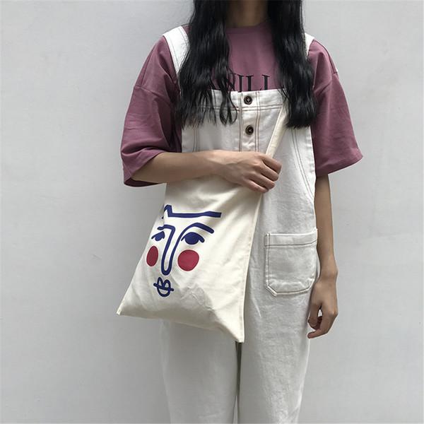 Casual Lady Handbag Cute Cartoon Blush Image Canvas Tote Bag Big Capacity For Woman With Single Adjustable Strap Optional Bag