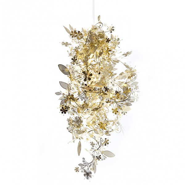 Modern Pendant Light Stainless Steel Suspension Lamp Black/White/Gold/Silver Colors Design Laser Cutting Carved Flowers