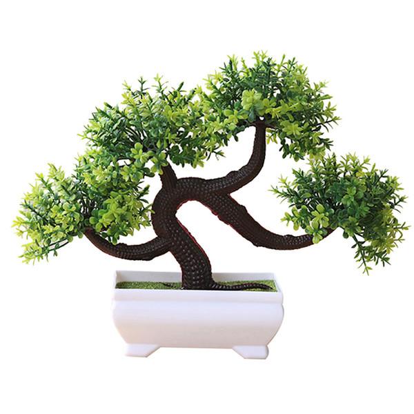 2019 Dragão Barba Árvore Simulado Vasos de Plantas Decoração Bonita Simulação Flor para Planta Artificial Transporte da gota